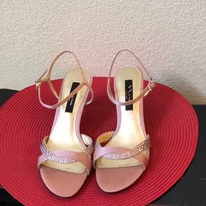 Fun Pink Kitten Heels by Nina New York (8.5)